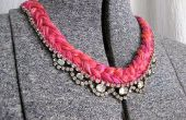 DIY collar de joya e hilo