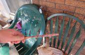 Enderezar la paleta de tenis de mesa combada (bate, raqueta, raqueta) con una prensa de bricolaje bat