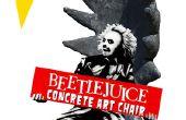 Beetlejuice de hormigón silla arte