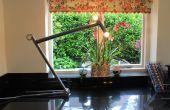 Lámpara de marco de bicicleta.