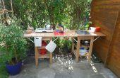 Cocina al aire libre/de interior de jardín cobertizo