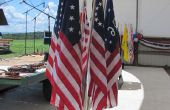 Base de pantalla de bandera: ángulo ajustable 7-bandera ramo