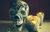 Velas de Halloween Grungy pegamento caliente goteo