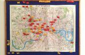 Elige tu aventura | Mapa de Londres y la conjunto bandera