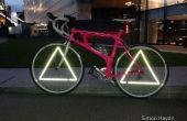Reflectores de la rueda del triángulo - bicicleta