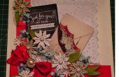 Hacer una flor gloriosa Margarita Vintage Collage tarjeta
