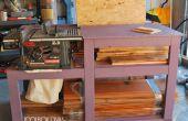 Sierra de mesa Banco de trabajo con almacenamiento de madera