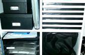 Caja de cartón para el almacenaje de estante del cubo