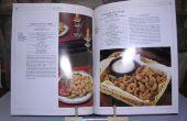 Patrón de receta e historia libro soporte