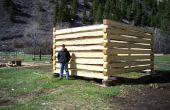 Cómo construir una cabaña de madera con ranuras de cola de Milano