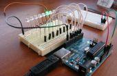 8-LED Larson Scanner con Arduino