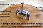 Robot seguidor de luz-fuente más simple
