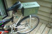 Soporte para bicicletas con suspensión de chatarra!
