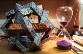 Escultura de origami modular de MAKALU - 6 pentágonos tejidos