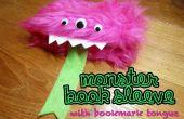 Monstruo libro manga con marcador lengua