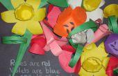 Flores de papercraft (fácil)