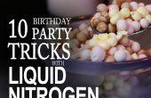 10 cosas que hacer en una fiesta de cumpleaños con nitrógeno líquido.