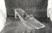 Cómo hacer una zapatilla de Cenicienta Prop 'Glass' (tina de un Pretzel?)