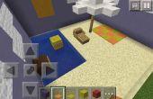 Paraguas de Minecraft y silla de playa