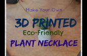 3D impreso collar brotes de planta