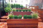 Diseño contemporáneo de jardín en la azotea de Nueva York