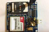 Mediante un módulo GSM/GPRS SIM900A en Australia
