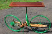 Árbol del rama y mesa de salón de la bicicleta