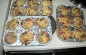 CARGADO dos veces cocido al horno magdalenas patatas