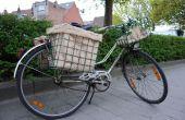 Bolsa de arpillera para la cesta de la bicicleta