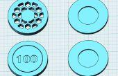 3D impreso palmeados Poker Chip