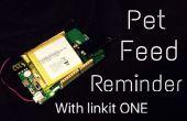 Hacer un Simple recordatorio de alimentación para mascotas con Linkit uno