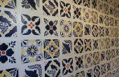Tablero imitación azulejo Talavera