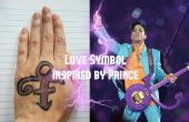 Amo símbolo pintura (inspirado por príncipe)