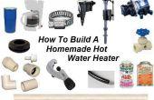 Cómo construir un calentador de agua casero