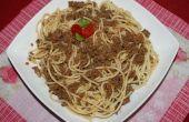 Espaguetis en carne picada