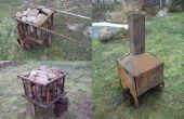 Chimenea móvil para sauna de humo