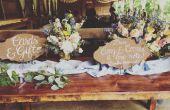 Imitación oxidado boda carteles con letras