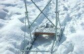 DIY - caseros perro trineo / retroceso patín / patín de nieve