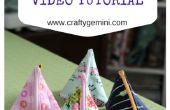Cómo hacer una bolsa de cremallera Triangular