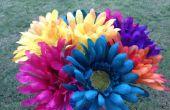 Cómo hacer flores de plumas
