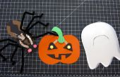 Manualidades Halloween LED papel