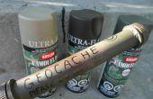 Construir su propio Geocache envase impermeable tubo
