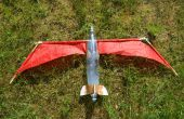 Cohete de agua con alas plegable