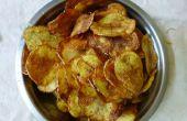 Hacer el crujiente de las patatas fritas en casa
