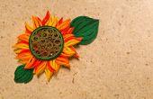 Cómo hacer el diseño de la flor del sol amarillo usando papel arte Quilling