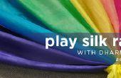 Jugar arco iris seda