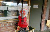 La 'Jam Stand': Un portátil, custom guitarra amplificador y soporte