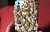 Caso del iPhone real cubierto de piedra
