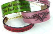 Láser grabado pulseras de cuero - regalos de San Valentín