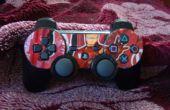 PS3 controlador decorado con una lata de hierro hombre Dr.Pepper.